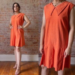 SALE Vintage 1960s Orange Romper
